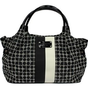 Kate Spade Black White Large Tote Travel Bag
